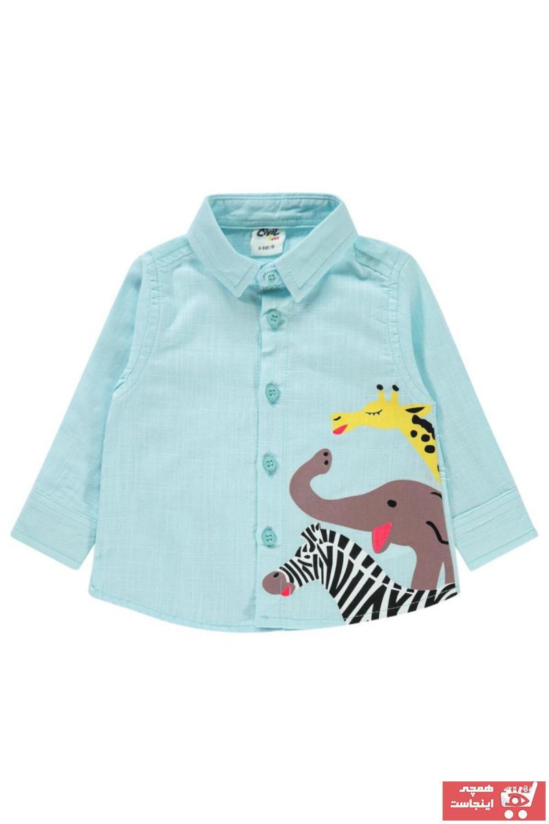 خرید اینترنتی پیراهن نوزاد پسرانه برن Civil Baby رنگ سبز کد ty98337331