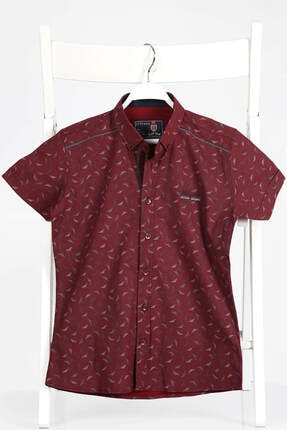 پیراهن طرح دار برند Ette رنگ زرشکی ty100272388