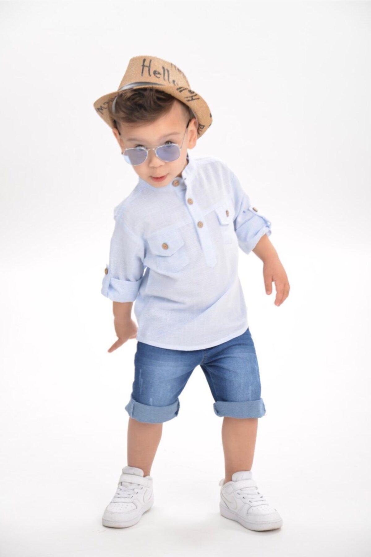 ست لباس ارزان بچه گانه برند tunay moda رنگ سبز کد ty101649105