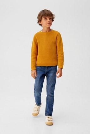 خرید پستی پلیور بچه گانه پارچه نخی برند مانگو رنگ زرد ty101965164