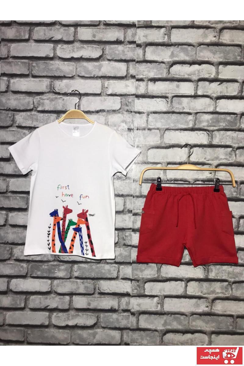ست لباس ارزان پسرانه برند youthwear رنگ قرمز ty102733137