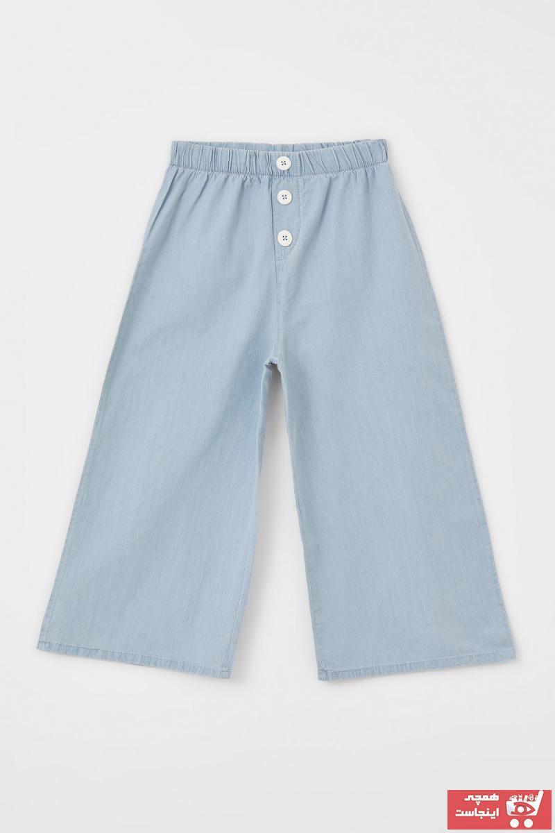 شلوار جین بچه گانه دخترانه مدل برند دفاکتو رنگ آبی کد ty108501216