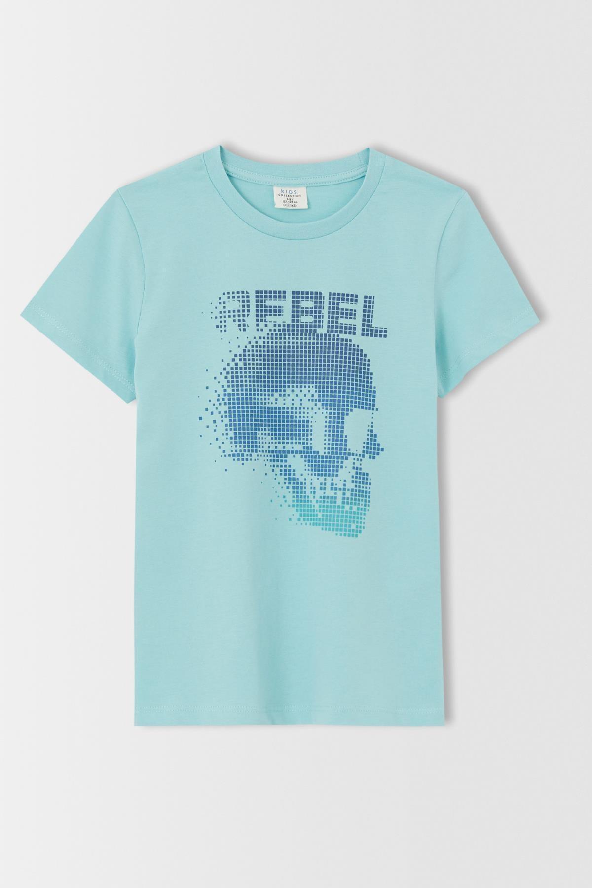 فروش تیشرت پسرانه برند دفاکتو رنگ فیروزه ای ty113923305