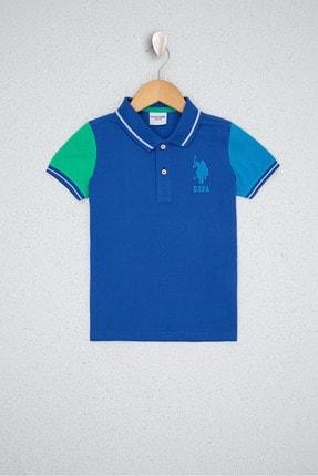 فروش تیشرت بچه گانه ترک مجلسی برند یو اس پولو رنگ لاجوردی کد ty117107355
