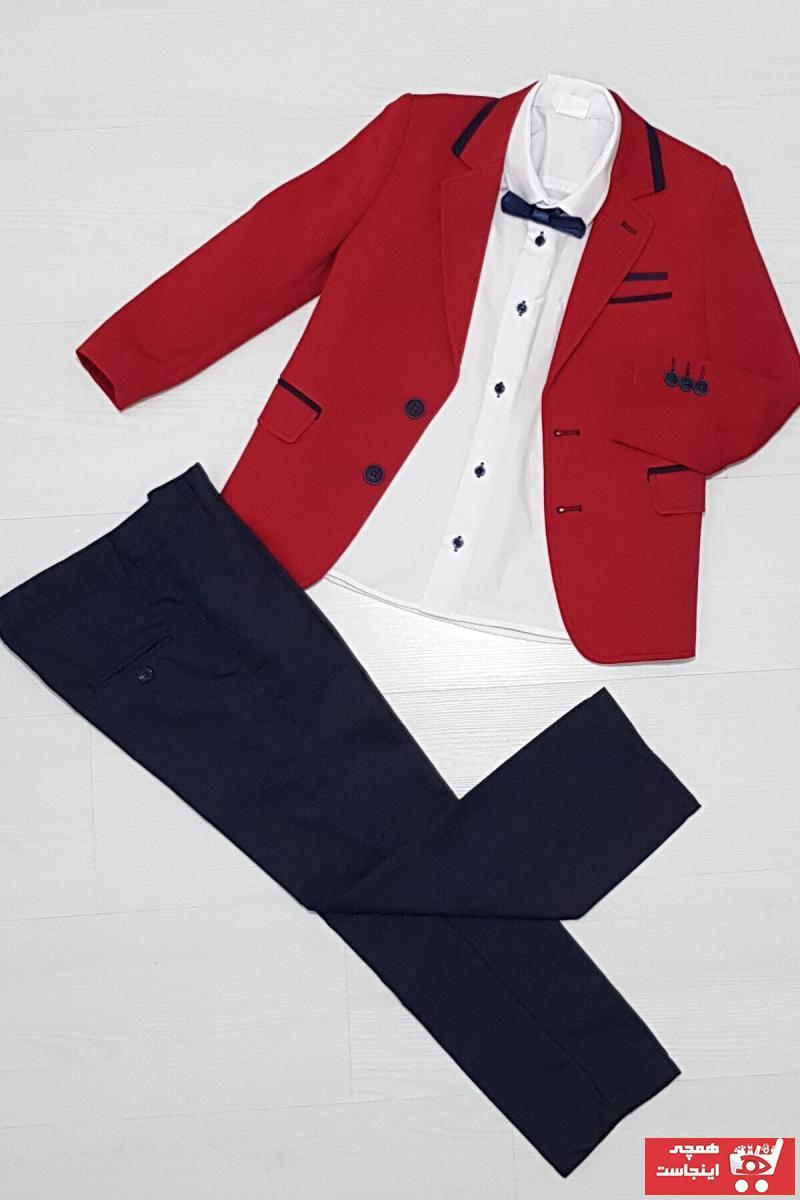 خرید نقدی لباس مجلسی ارزان پسرانه برند Tarz Çocuk رنگ قرمز ty117391516