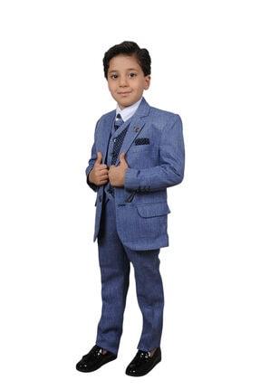 لباس مجلسی پسرانه 2021 برند HİKKOKİDSWEAR رنگ آبی کد ty119978090