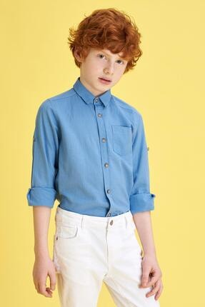 پیراهن بلند برند دفاکتو ترکیه رنگ آبی کد ty26239559