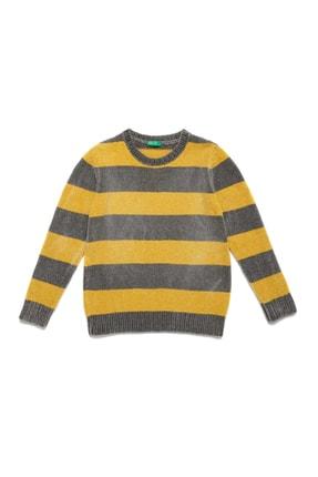 پلیور ارزان بچه گانه برند United Colors of Benetton رنگ زرد ty32054663
