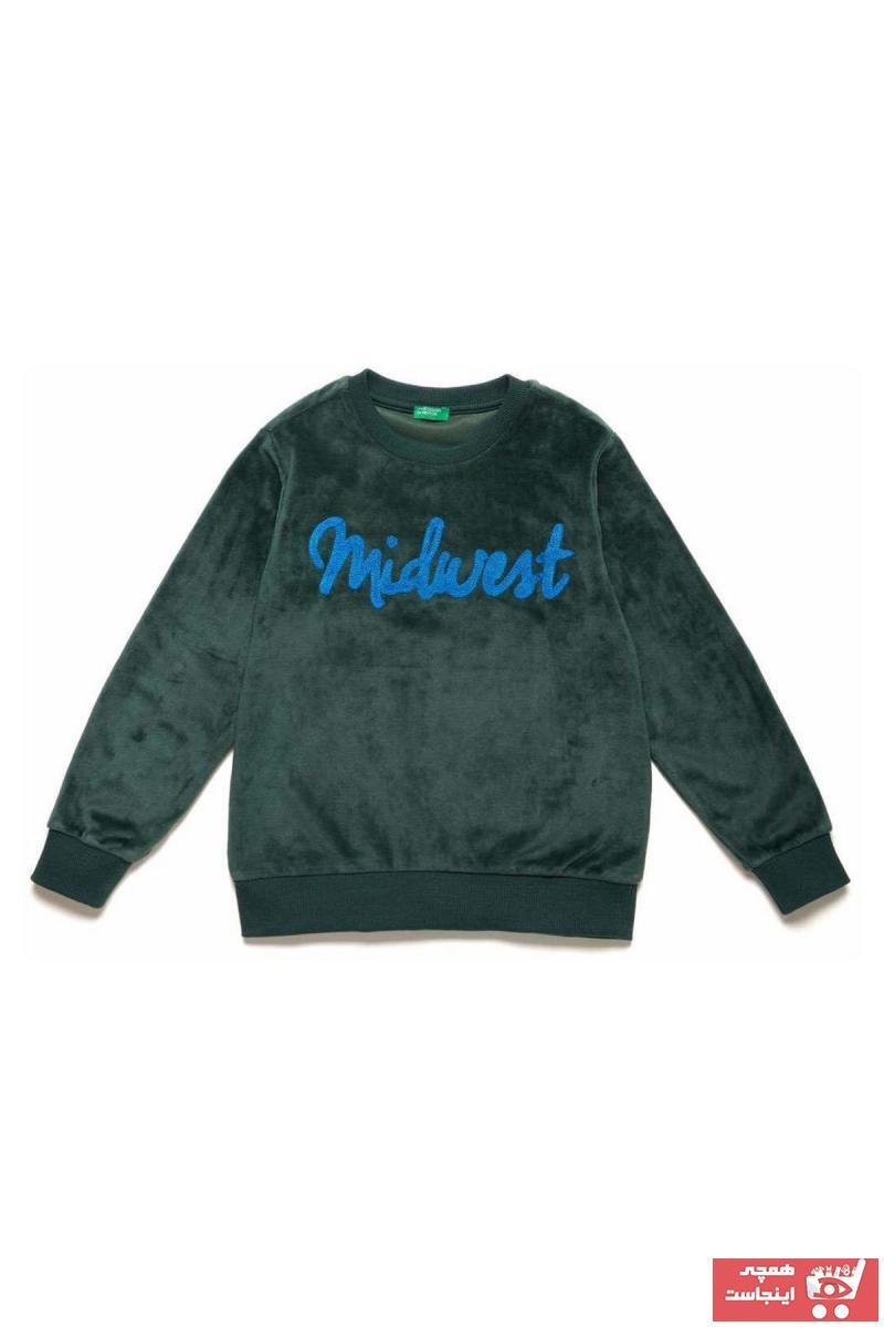 ژورنال سویشرت بچه گانه برند United Colors of Benetton رنگ سبز کد ty36596497