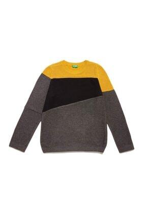 پلیور پسرانه خفن برند United Colors of Benetton رنگ زرد ty36596512