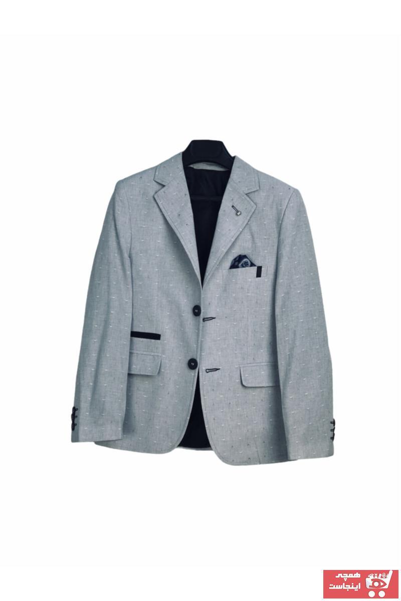 ژاکت پسرانه مجلسی برند Toker Bebe رنگ نقره ای کد ty41176570
