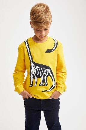 سویشرت بچه گانه تابستانی مارک دفاکتو رنگ زرد ty45192661