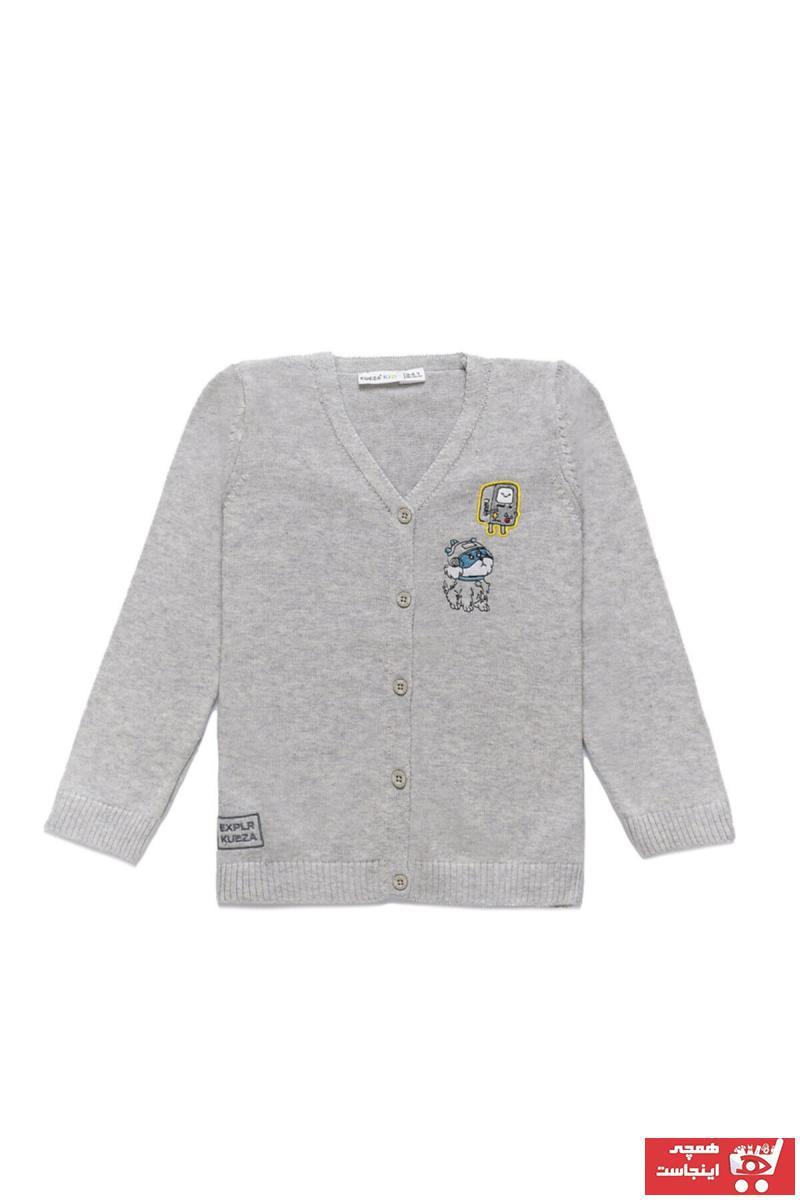 سویشرت پسرانه اینترنتی برند KUEZA KIDS رنگ نقره ای کد ty46117551