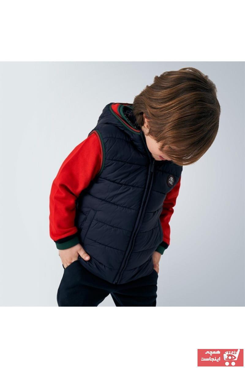 ژاکت بچه گانه نخ پنبه برند MAYORAL رنگ آبی کد ty46716799