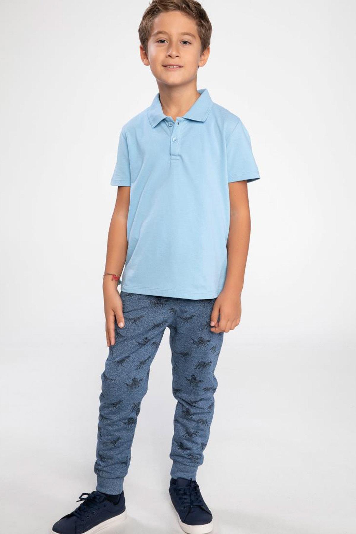 خرید اینترنتی تیشرت خاص بچه گانه برند دفاکتو رنگ آبی کد ty4959626