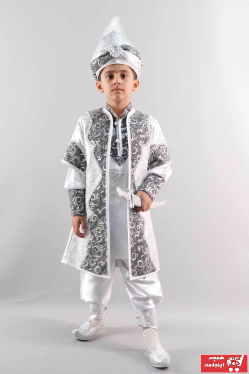 خرید اینترنتی لباس خاص خاص برند Osmanlı Sünnet Kıyafetleri رنگ نقره ای کد ty50105658
