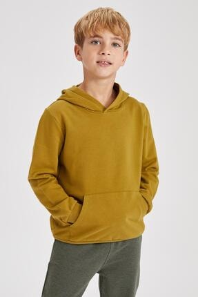 سویشرت جدید بچه گانه شیک برند دفاکتو ترکیه رنگ سبز کد ty55049592
