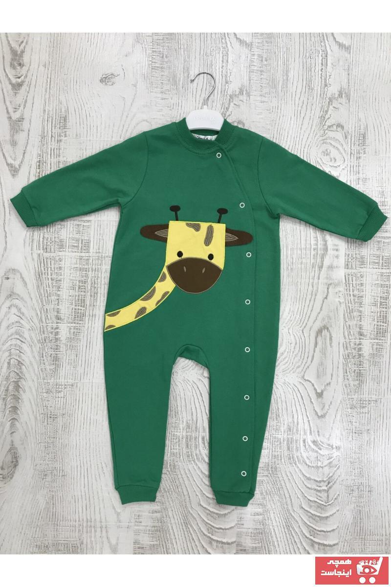 سرهمی پسرانه نگیندار برند Esterella رنگ سبز کد ty69767914