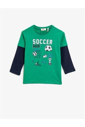 خرید اینترنتی تیشرت بچه گانه برند کوتون رنگ سبز کد ty72811060