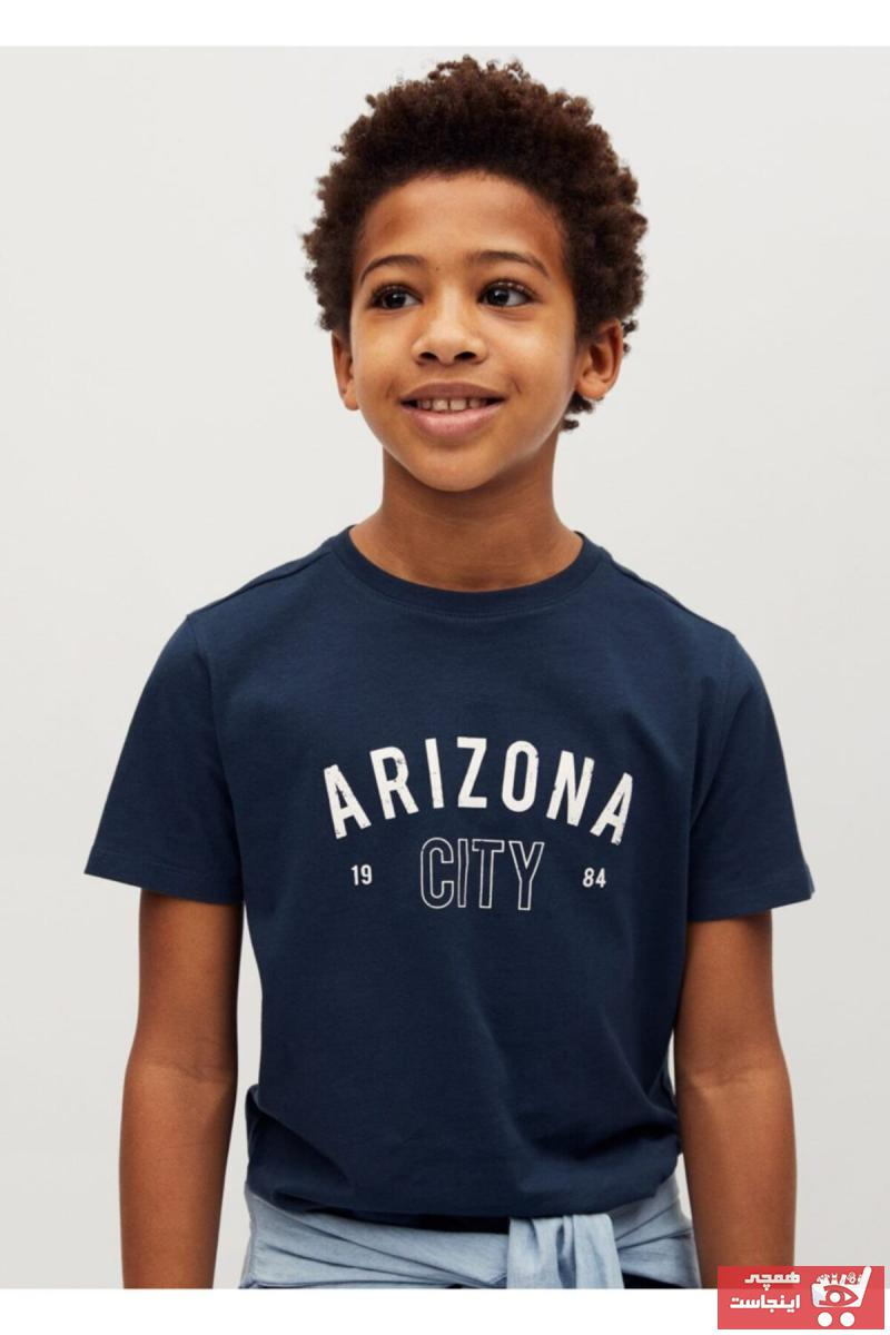ژورنال تیشرت بچه گانه برند منگو رنگ لاجوردی کد ty75749525