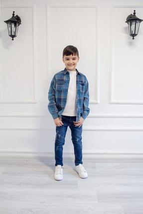 پیراهن مدل 2021 برند Mutlu Kids رنگ آبی کد ty92898391
