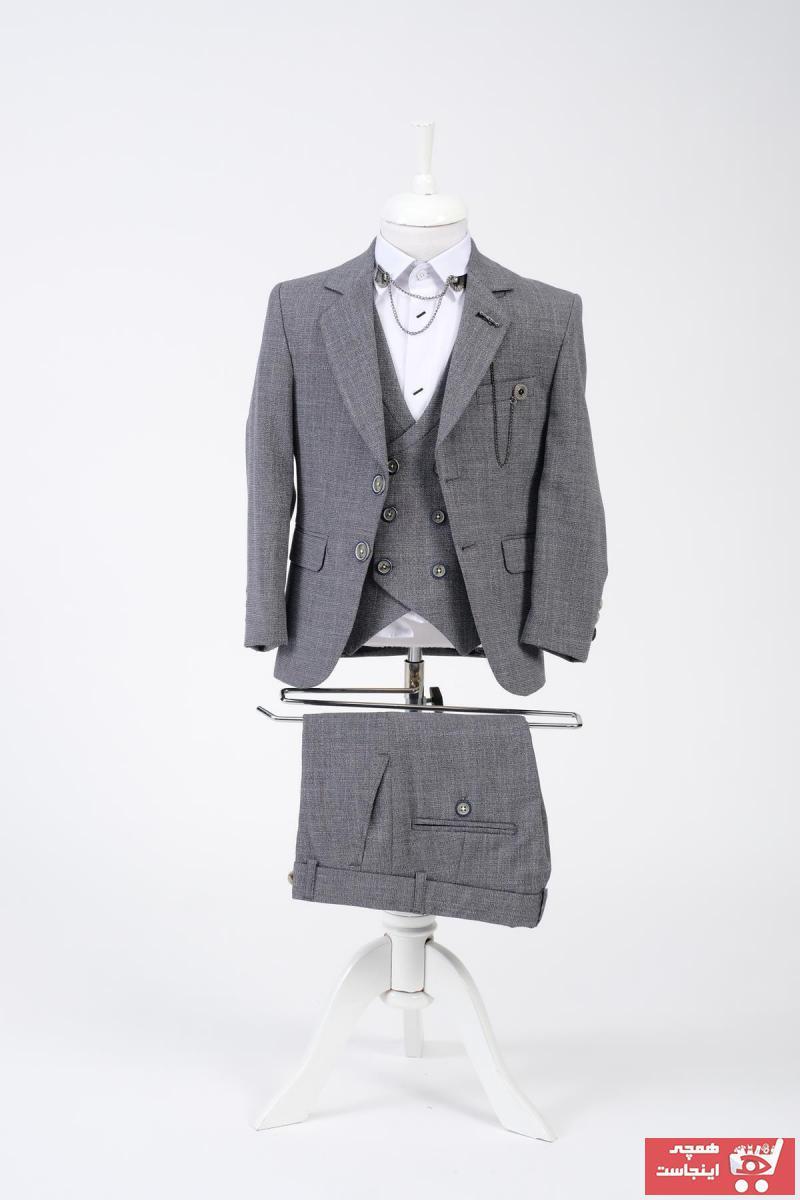 لباس مجلسی بچه گانه نخی برند Doctor junior رنگ نقره ای کد ty94916305