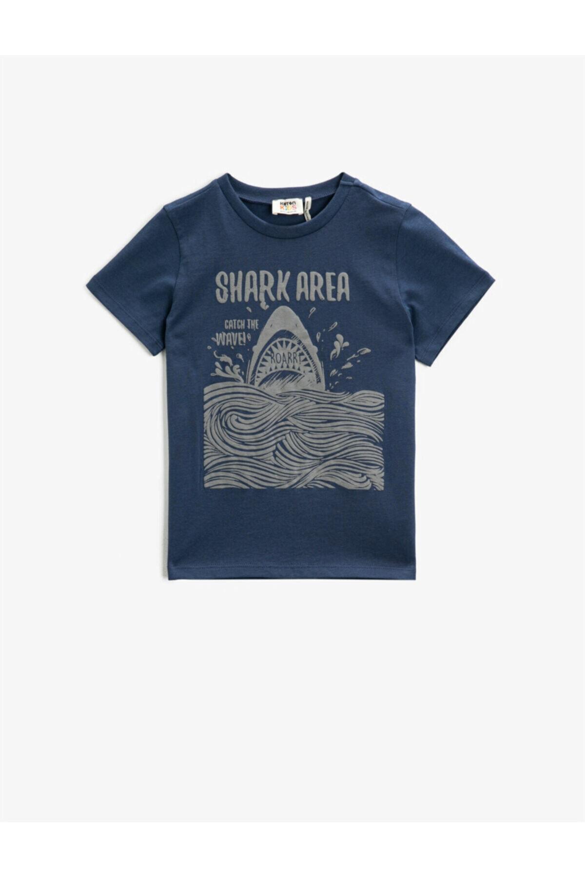 تیشرت بچه گانه ارزان برند Koton Kids رنگ آبی کد ty95472104