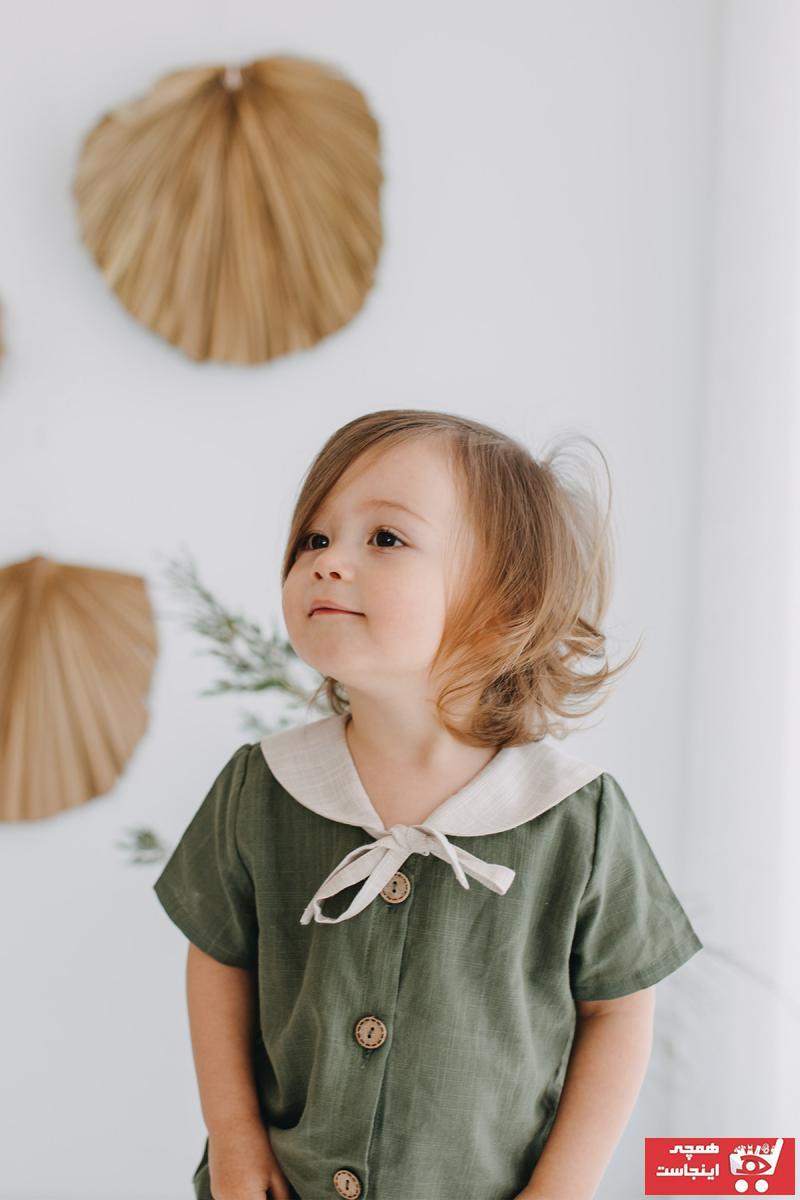 پیراهن پسرانه شیک جدید برند ILO رنگ خاکی کد ty95901005