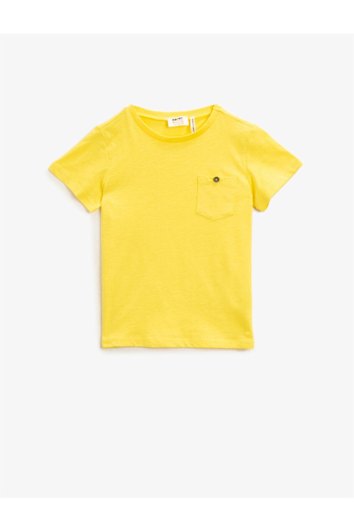 مدل تیشرت 2021 برند Koton Kids رنگ زرد ty98134918