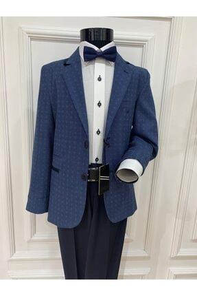 خرید پستی لباس مجلسی بچه گانه پارچه نخی برند Harput Collection رنگ آبی کد ty98358170