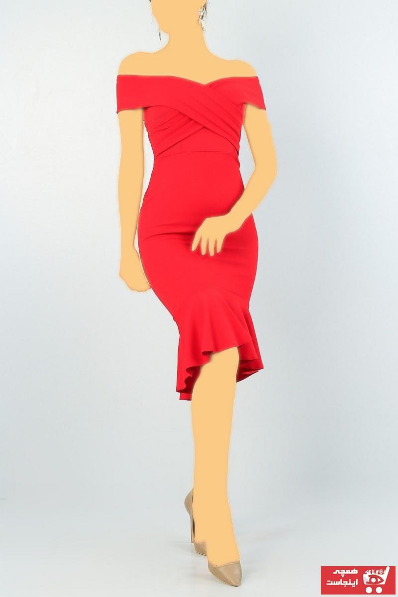 خرید نقدی لباس مجلسی زنانه  برند lovebox رنگ قرمز ty105669998