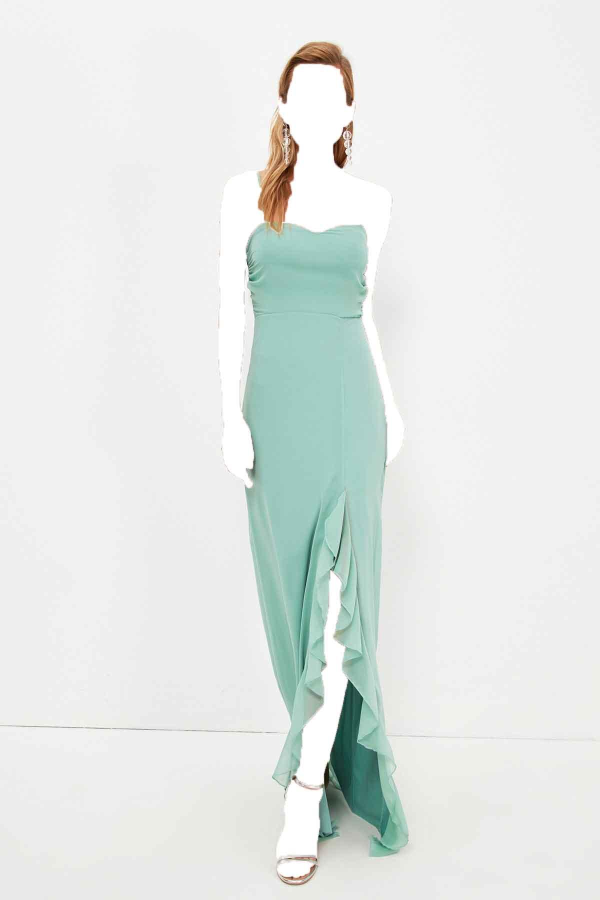 لباس مجلسی زنانه اسپرت جدید برند TRENDYOLMİLLA رنگ آبی کد ty115620317