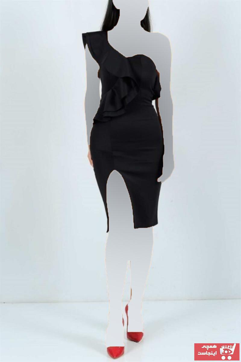 خرید نقدی لباس مجلسی زنانه فروشگاه اینترنتی برند tknfashion رنگ مشکی کد ty117960223