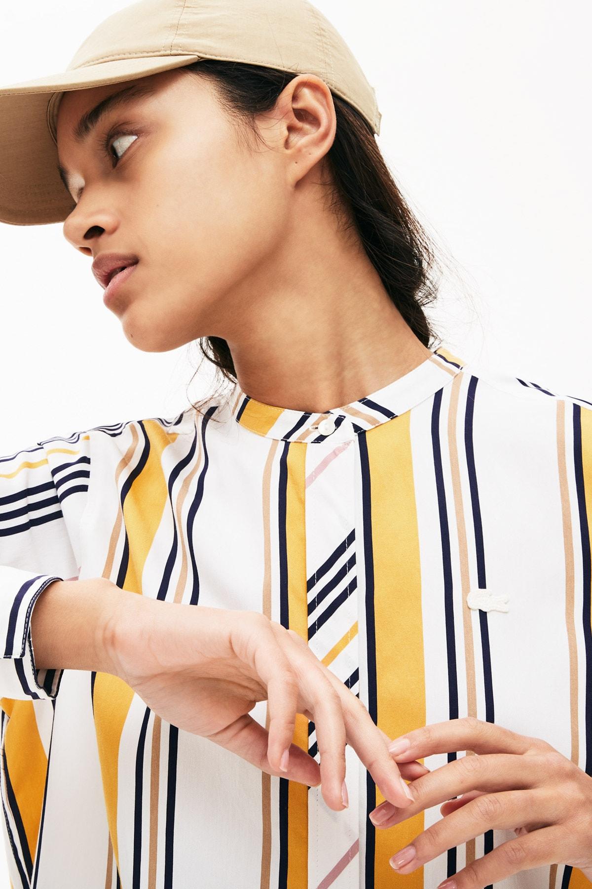 خرید نقدی شومیز شلوارک زنانه برند لاگوست lacoste رنگ زرد ty42189927