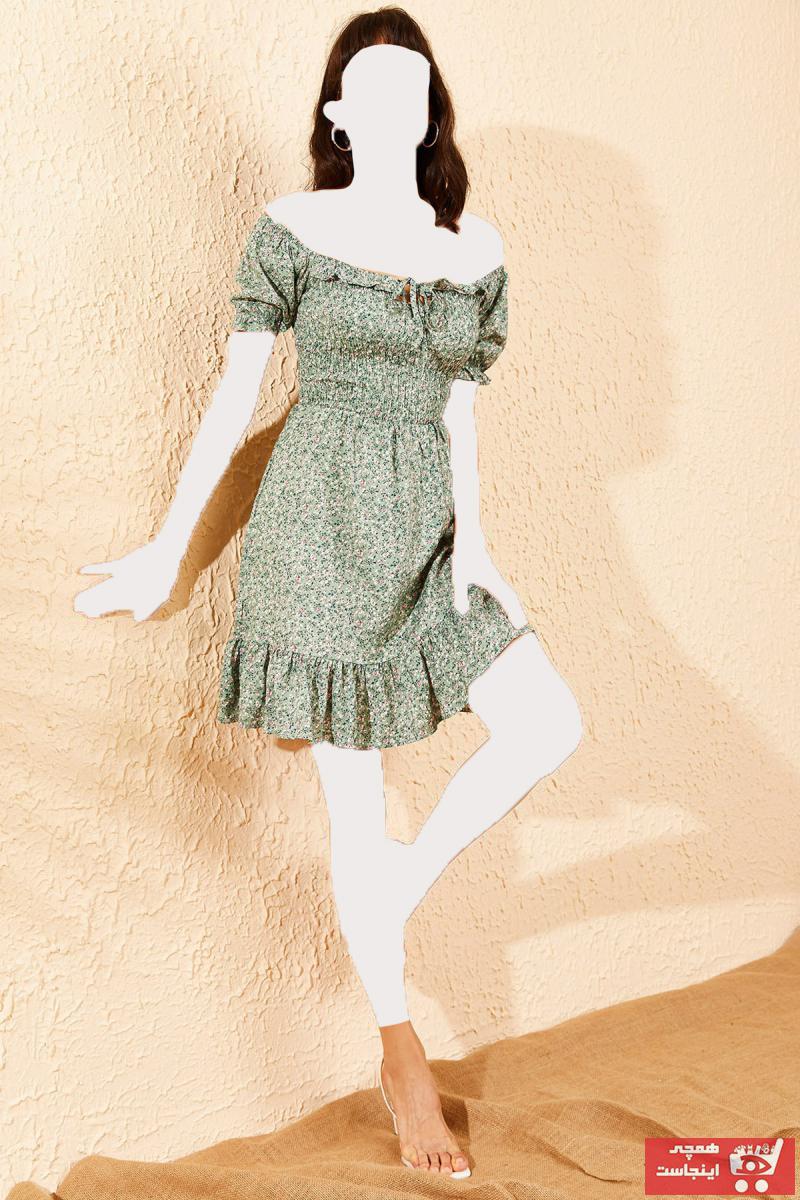 پیراهن زنانه ارزان برند Bianco Lucci رنگ سبز کد ty42660450