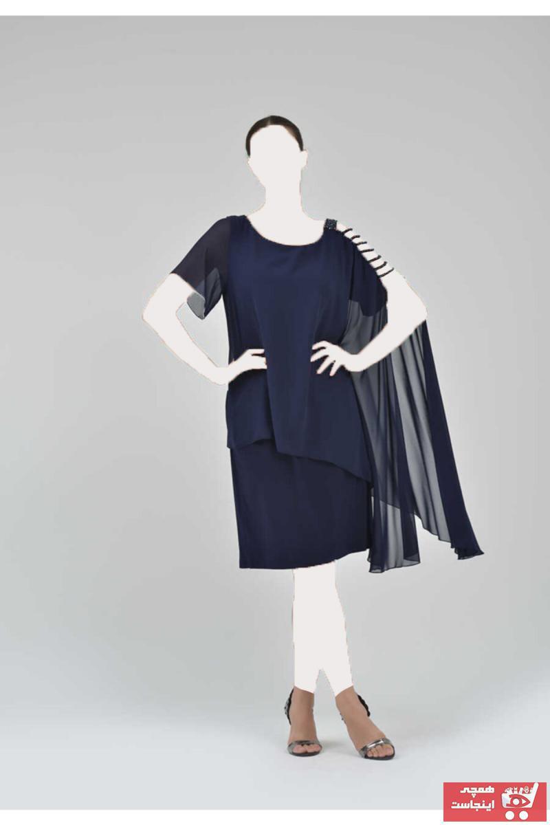 لباس مجلسی پاییزی زنانه برند TOLGA SARAÇOĞLU رنگ لاجوردی کد ty51418892