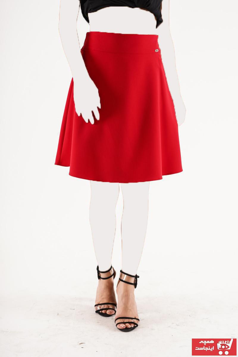 دامن خاص زنانه CU&MU رنگ قرمز ty57053530