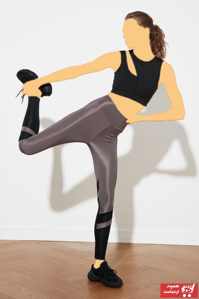 خرید پلگی لگ ورزشی زنانه جدید برند ترندیول میلا رنگ نقره ای کد ty82943773