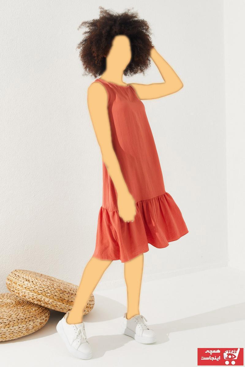 خرید پیراهن زنانه شیک برند Reyon رنگ صورتی ty92646188