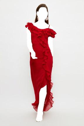 لباس مجلسی اورجینال برند TRENDYOLMİLLA رنگ قرمز ty107197353