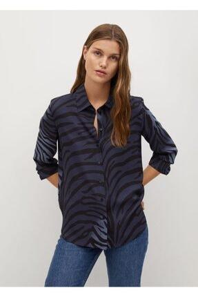 شومیز زنانه خاص برند منگو رنگ آبی کد ty111696049