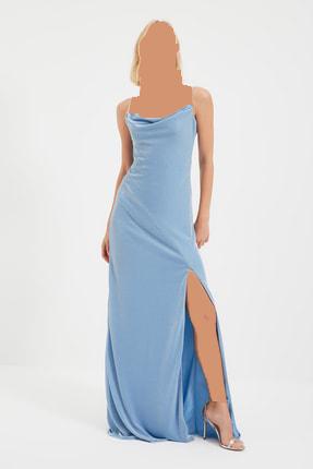 خرید اینترنتی لباس مجلسی زنانه برند ترندیول میلا ترک رنگ آبی کد ty112617137