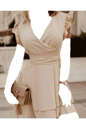 لباس مجلسی زنانه اسپرت جدید برند JANES رنگ بژ کد ty112717860