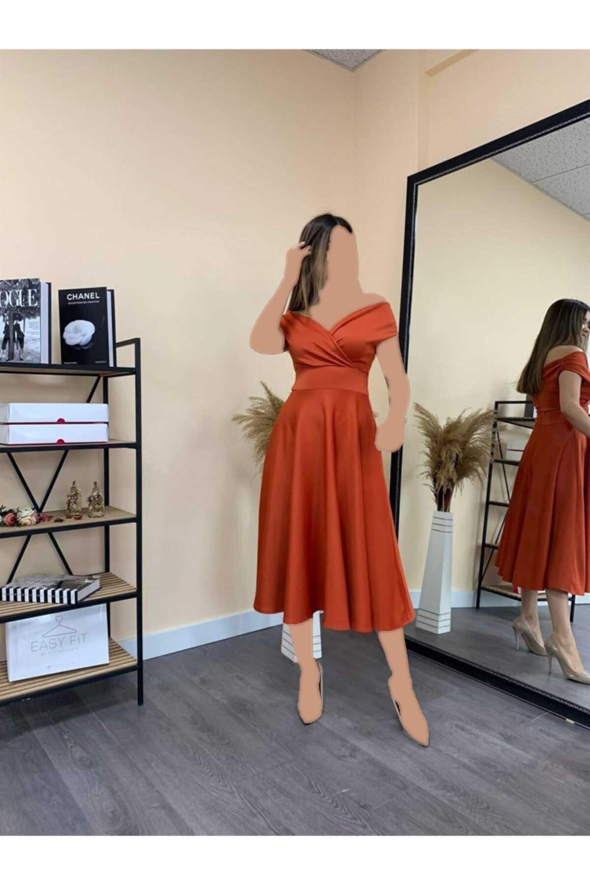 لباس مجلسی اورجینال برند giyimmasalı رنگ نارنجی کد ty122950174