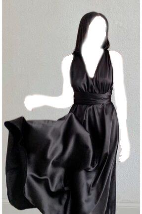 فروش لباس مجلسی زنانه 2020 برند mekabutik رنگ مشکی کد ty123751948