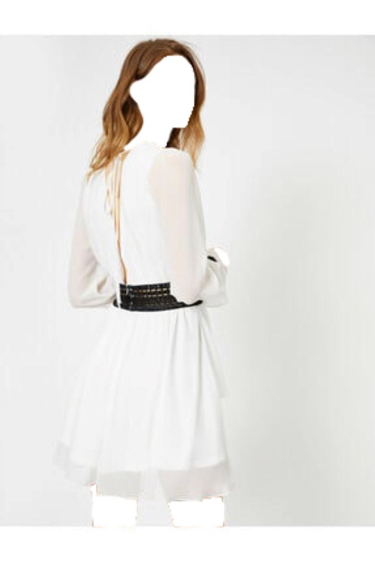 لباس مجلسی اورجینال برند کوتون رنگ کرمی کد ty35813018