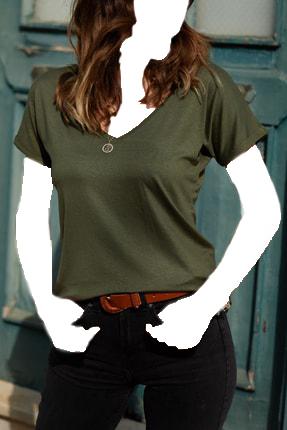 فروش اینترنتی بلوز زنانه با قیمت برند XHAN رنگ خاکی کد ty36525244