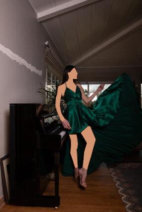مدل لباس مجلسی 2020 برند Thats It رنگ سبز کد ty4414153