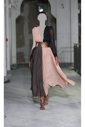 لباس مجلسی خاص زنانه برند Tuba Ergin رنگ بژ کد ty51349890