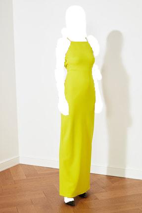 لباس مجلسی زنانه شیک و جدید مارک ترندیول میلا رنگ زرد ty92582630